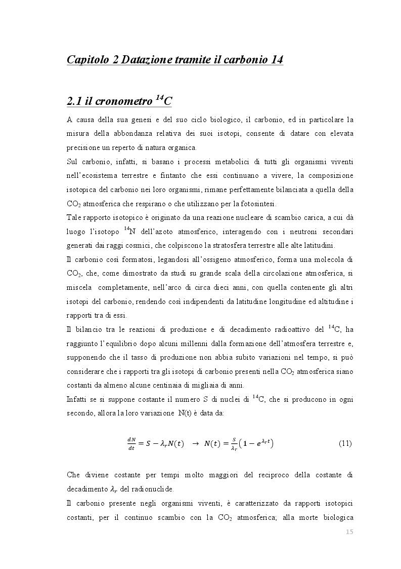 Problemi di datazione C14
