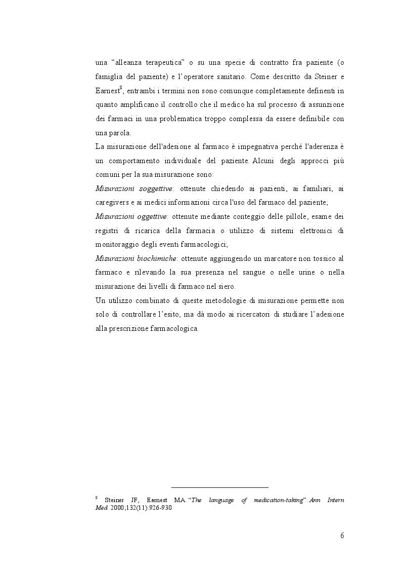 Anteprima della tesi: Indagine sulle mancate conoscenze e comportamenti relativi alla salute nel self-management della terapia antidiabetica, Pagina 6