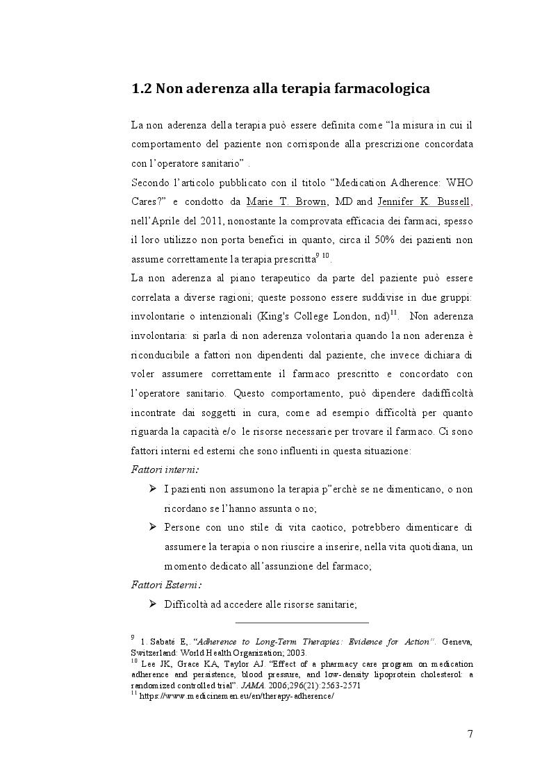 Anteprima della tesi: Indagine sulle mancate conoscenze e comportamenti relativi alla salute nel self-management della terapia antidiabetica, Pagina 7