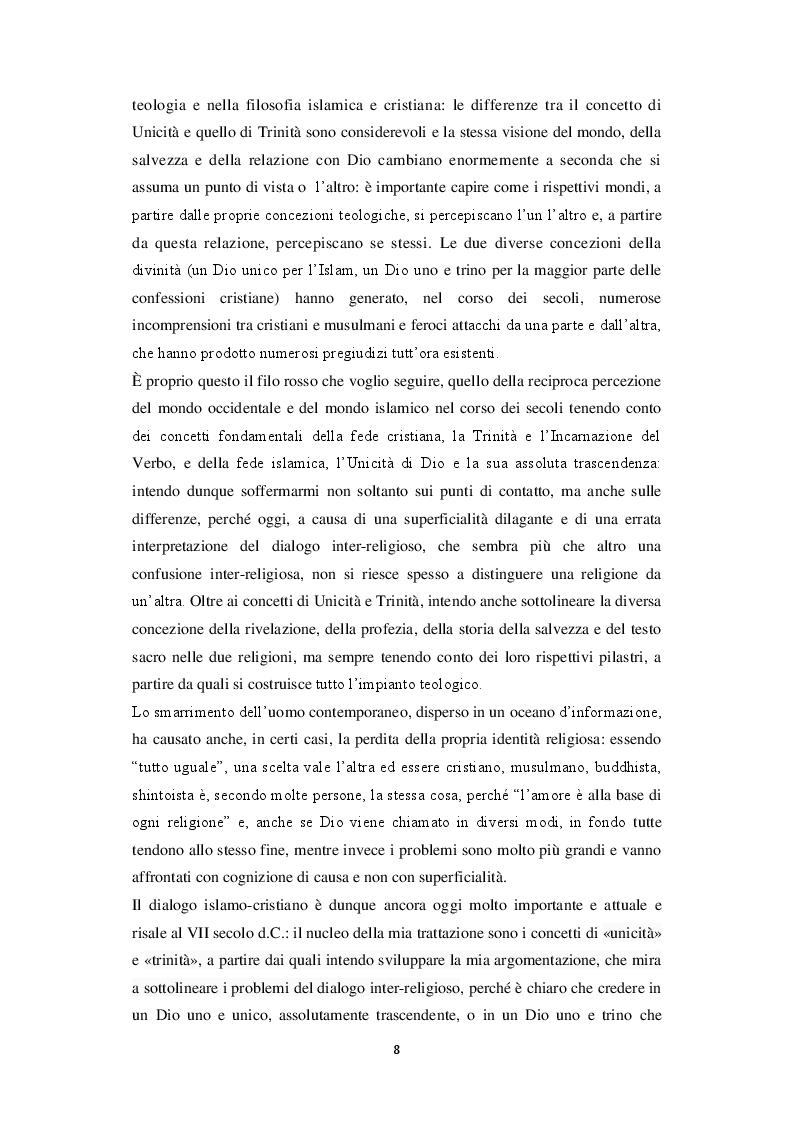Anteprima della tesi: Unicità di Dio e Trinità nel pensiero islamico e cristiano: un dialogo possibile?, Pagina 5