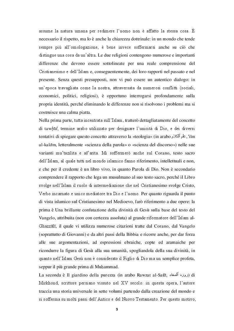 Anteprima della tesi: Unicità di Dio e Trinità nel pensiero islamico e cristiano: un dialogo possibile?, Pagina 6