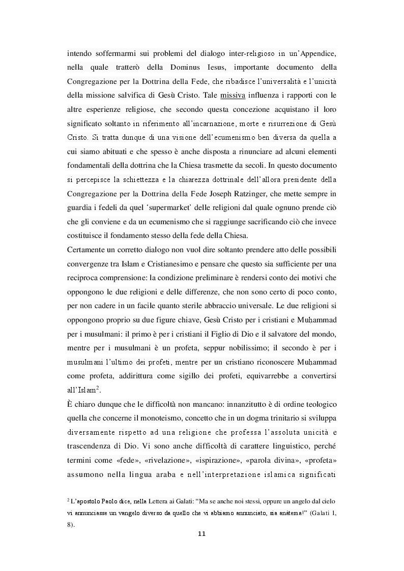Anteprima della tesi: Unicità di Dio e Trinità nel pensiero islamico e cristiano: un dialogo possibile?, Pagina 8