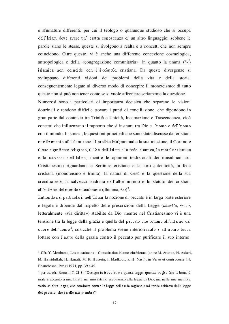 Anteprima della tesi: Unicità di Dio e Trinità nel pensiero islamico e cristiano: un dialogo possibile?, Pagina 9