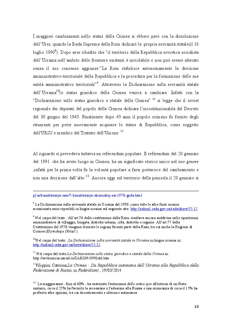 Estratto dalla tesi: La crisi della Crimea: profili costituzionali del referendum del 16 marzo 2014