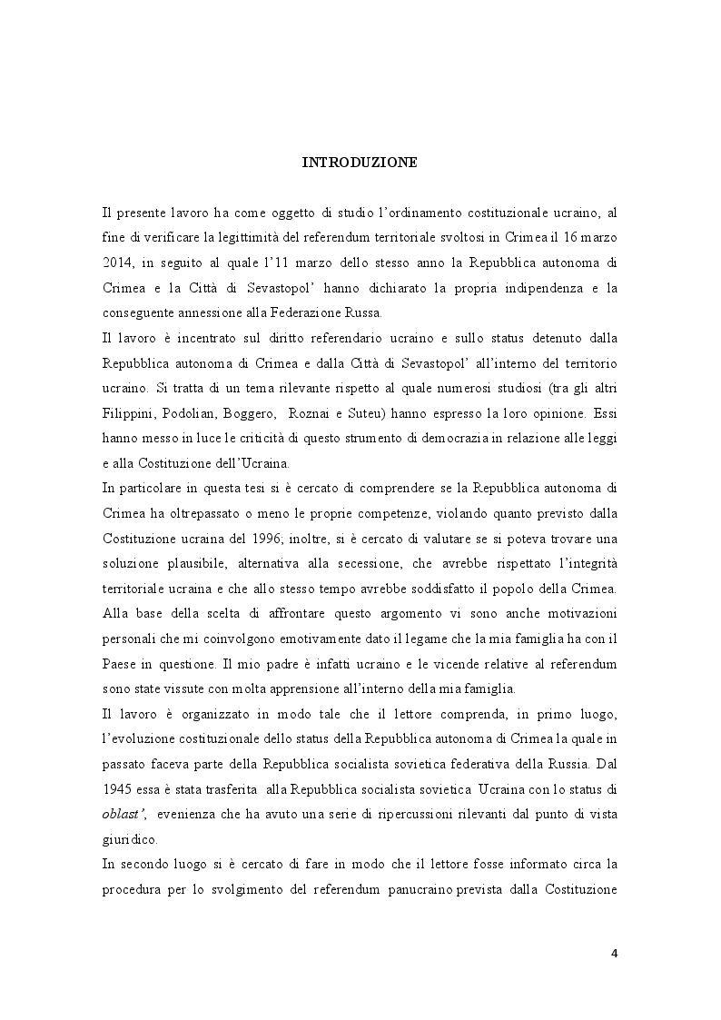 Anteprima della tesi: La crisi della Crimea: profili costituzionali del referendum del 16 marzo 2014, Pagina 2