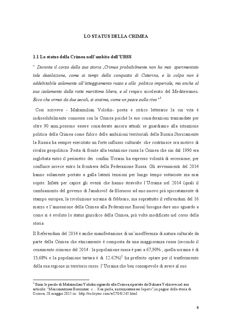Anteprima della tesi: La crisi della Crimea: profili costituzionali del referendum del 16 marzo 2014, Pagina 4