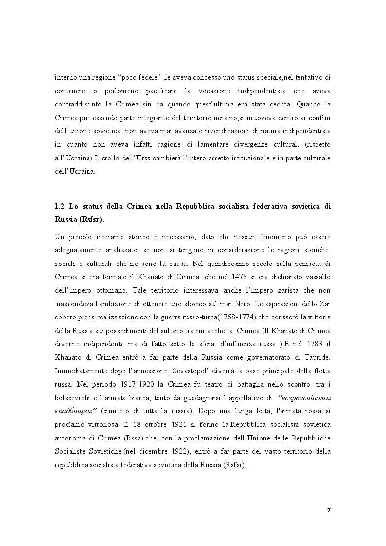 Anteprima della tesi: La crisi della Crimea: profili costituzionali del referendum del 16 marzo 2014, Pagina 5