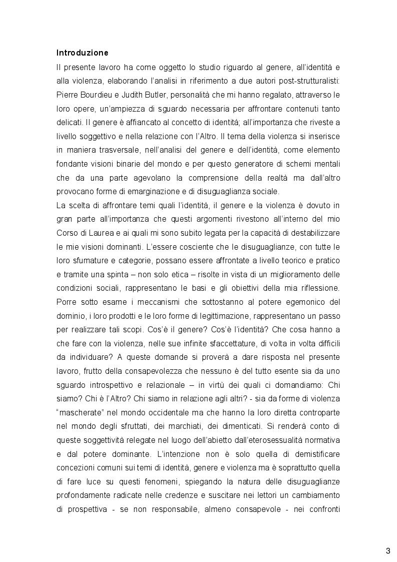 Anteprima della tesi: Genere, Identità e Violenza: due autori post-stutturalisti a confronto e prospettive femministe, Pagina 2