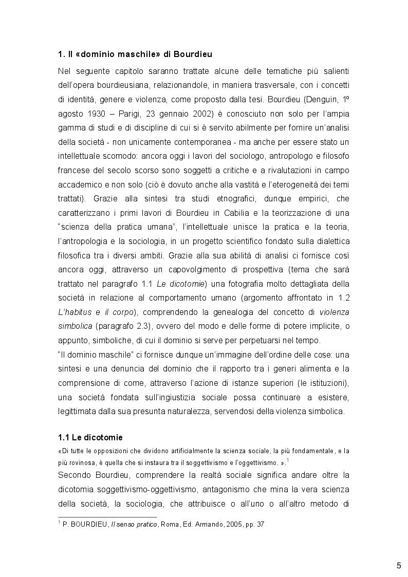 Anteprima della tesi: Genere, Identità e Violenza: due autori post-stutturalisti a confronto e prospettive femministe, Pagina 4