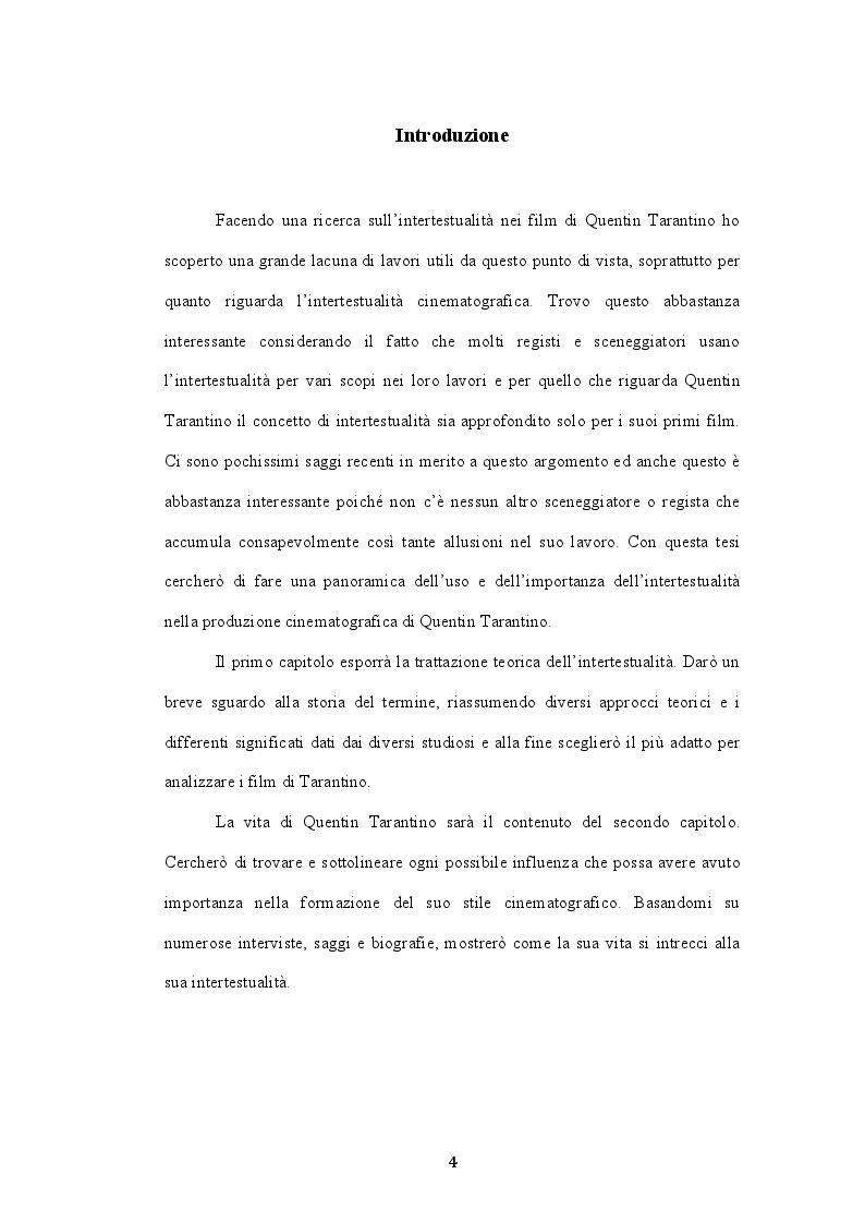 Anteprima della tesi: L'intertestualità in Bastardi senza gloria di Quentin Tarantino, Pagina 2