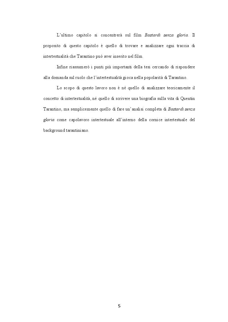 Anteprima della tesi: L'intertestualità in Bastardi senza gloria di Quentin Tarantino, Pagina 3