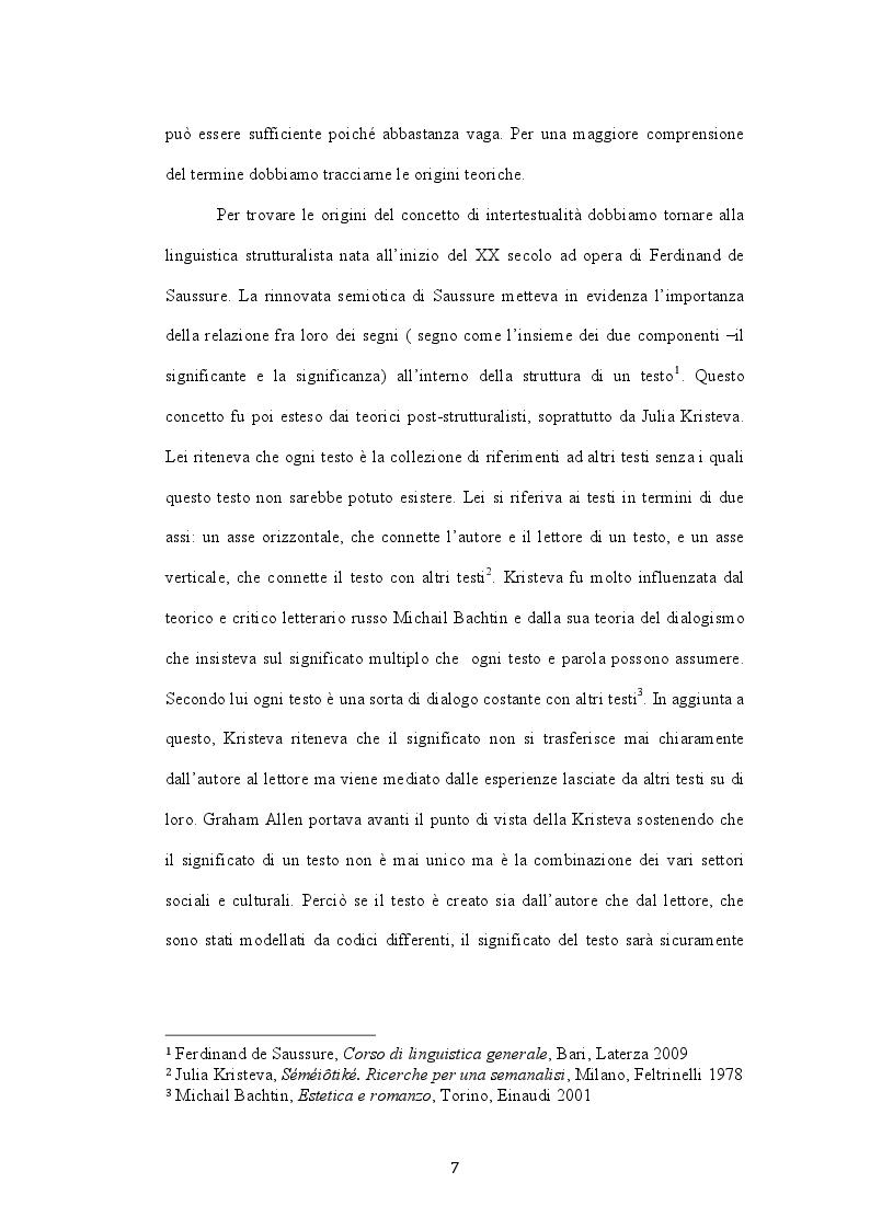 Anteprima della tesi: L'intertestualità in Bastardi senza gloria di Quentin Tarantino, Pagina 5