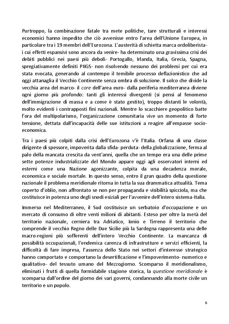 Anteprima della tesi: Il Grande Dimenticato. Il Mezzogiorno dalla fine dell'intervento straordinario alla Grande Recessione, Pagina 3