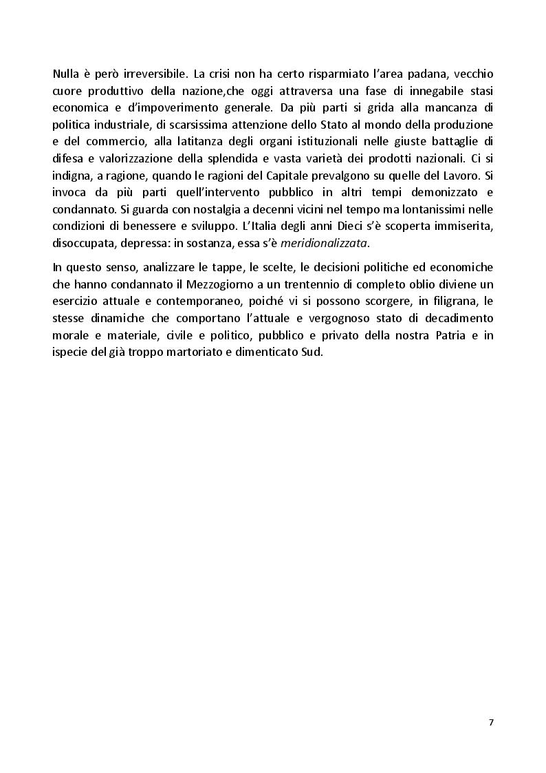 Anteprima della tesi: Il Grande Dimenticato. Il Mezzogiorno dalla fine dell'intervento straordinario alla Grande Recessione, Pagina 4