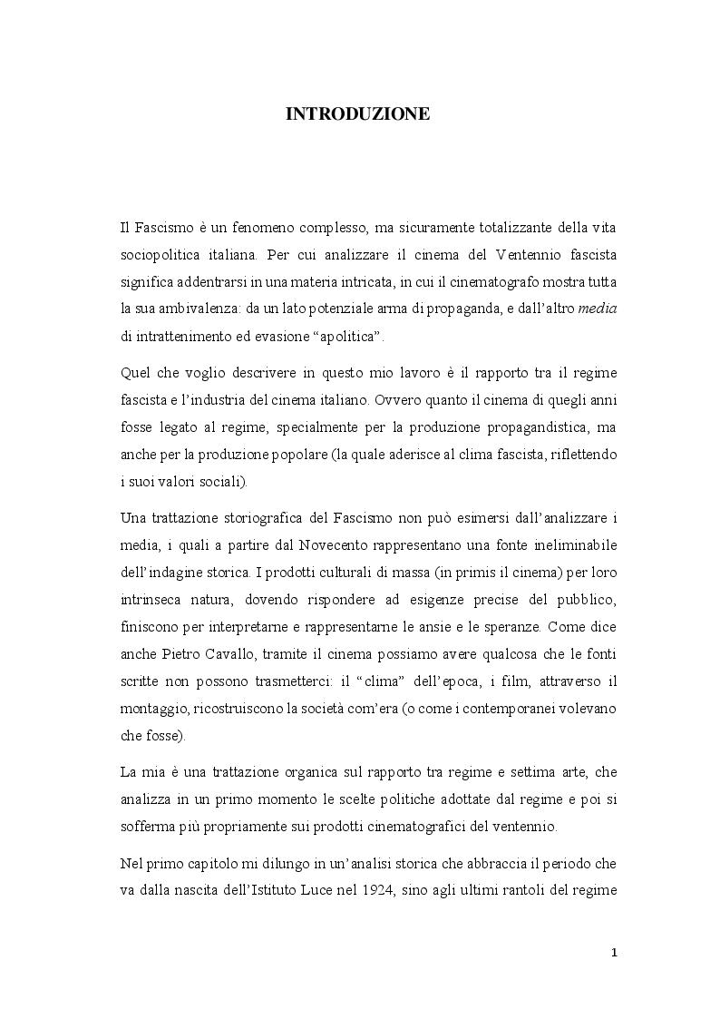 Anteprima della tesi: Cinema e propaganda nel Ventennio fascista, Pagina 2