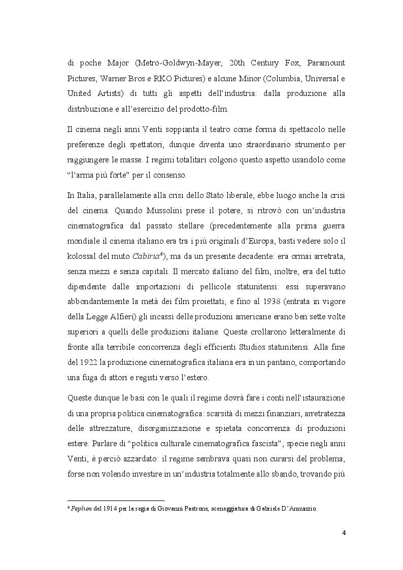 Anteprima della tesi: Cinema e propaganda nel Ventennio fascista, Pagina 5