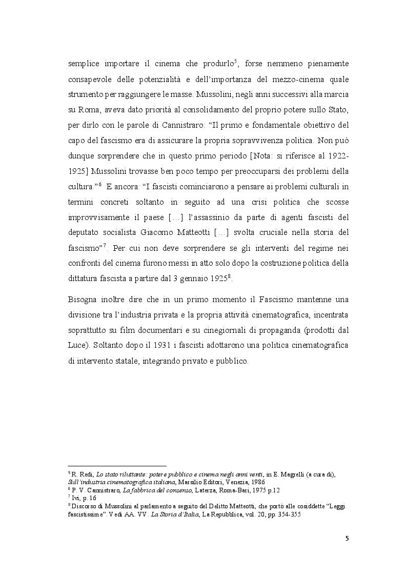 Anteprima della tesi: Cinema e propaganda nel Ventennio fascista, Pagina 6