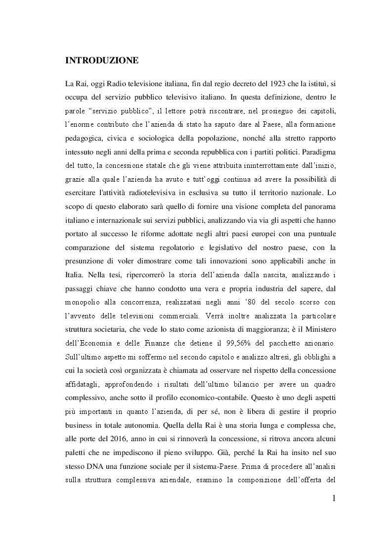 Anteprima della tesi: Rai, dal regio decreto alla rivoluzione del sistema televisivo, Pagina 2