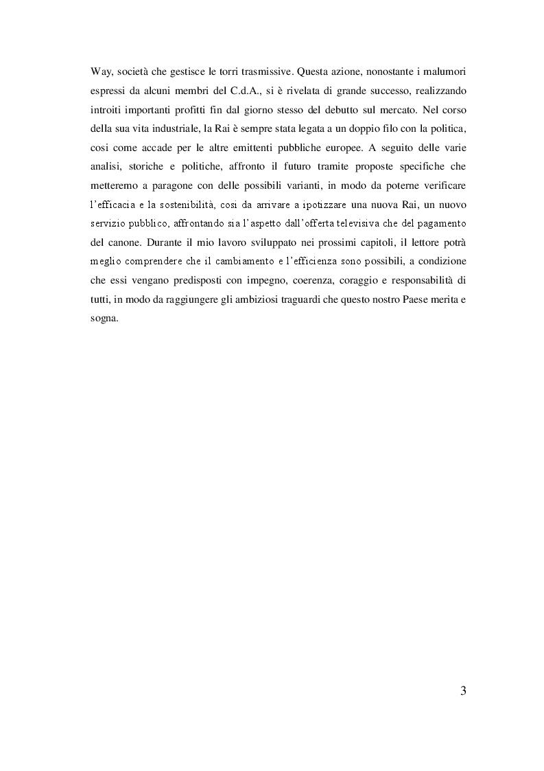 Anteprima della tesi: Rai, dal regio decreto alla rivoluzione del sistema televisivo, Pagina 4