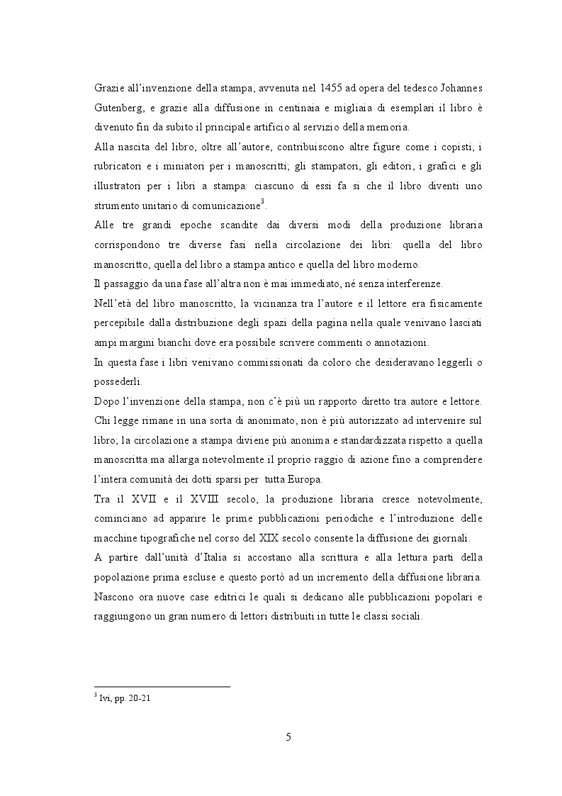 Anteprima della tesi: Biblioteche carcerarie tra cultura e reinserimento: la biblioteca della casa circondariale di Lecco, Pagina 6