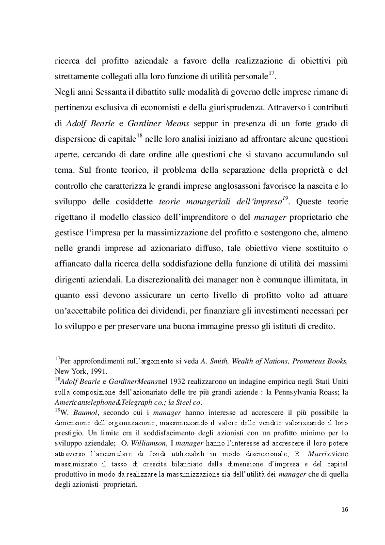 Estratto dalla tesi: Struttura e modelli della corporate governance nelle società quotate: il ruolo degli amministratori indipendenti