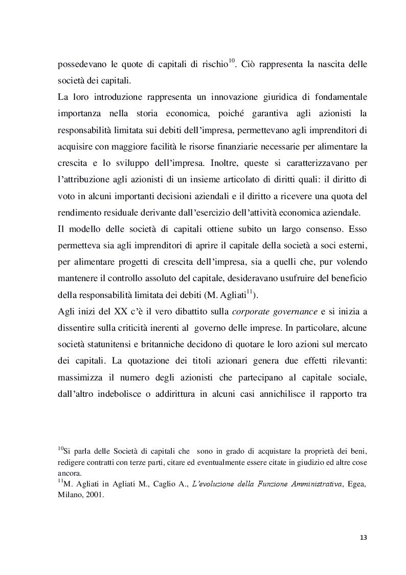 Anteprima della tesi: Struttura e modelli della corporate governance nelle società quotate: il ruolo degli amministratori indipendenti, Pagina 10