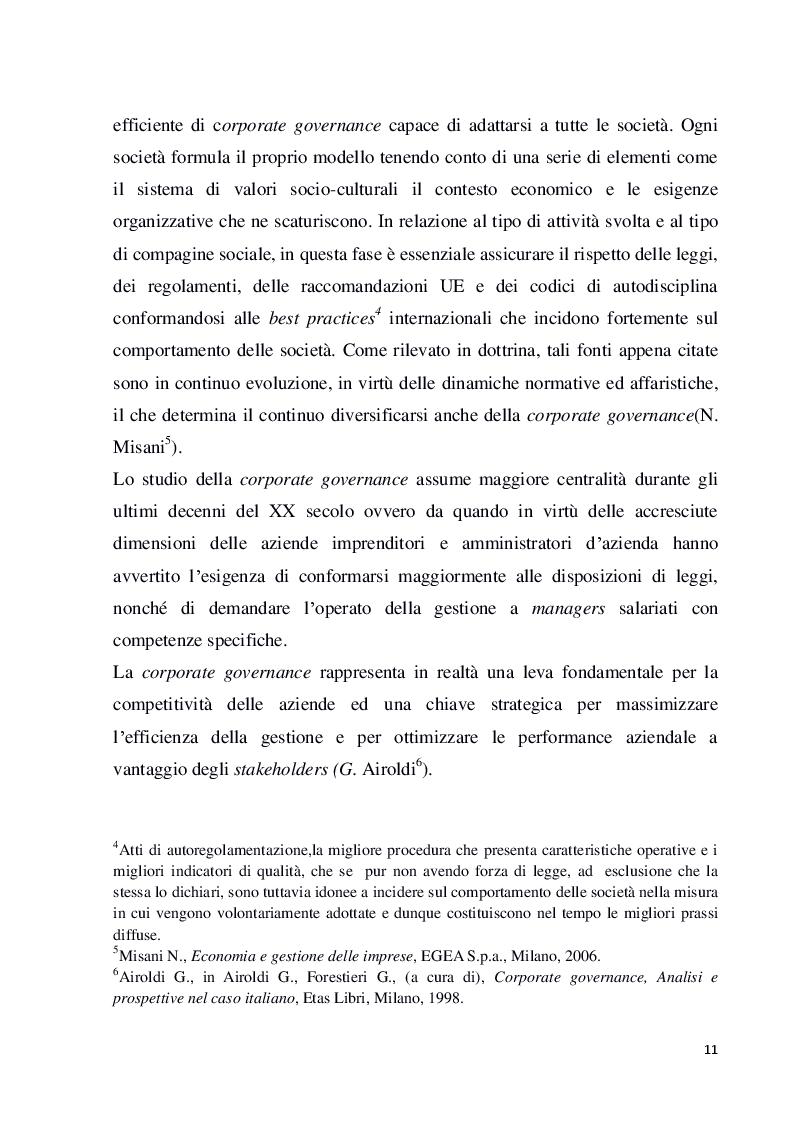 Anteprima della tesi: Struttura e modelli della corporate governance nelle società quotate: il ruolo degli amministratori indipendenti, Pagina 8
