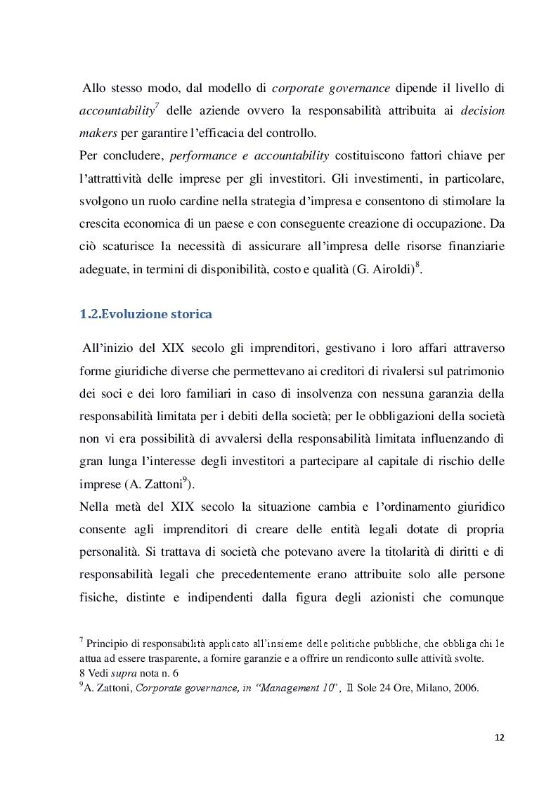 Anteprima della tesi: Struttura e modelli della corporate governance nelle società quotate: il ruolo degli amministratori indipendenti, Pagina 9