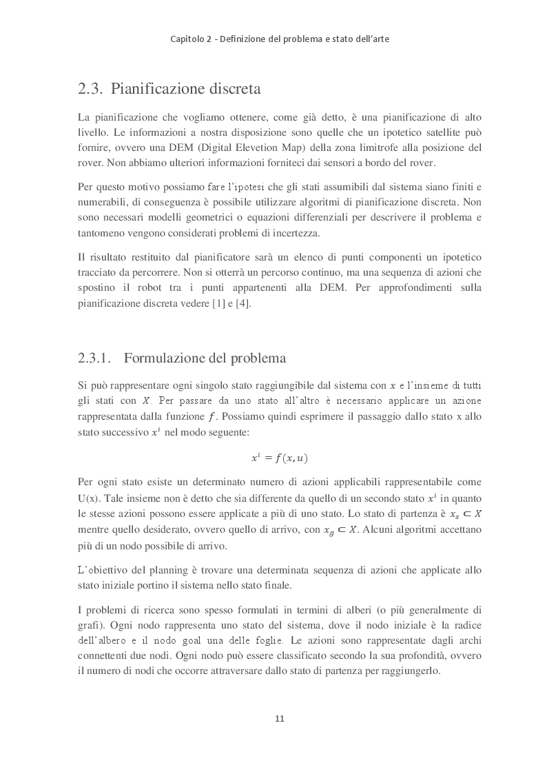 Anteprima della tesi: Path Planning e Sliding Autonomy per robotica mobile in applicazioni spaziali, Pagina 3
