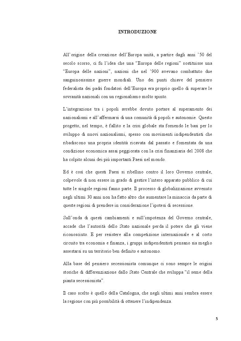 Anteprima della tesi: Catalogna: indipendenza possibile o sogno irrealizzabile?, Pagina 2
