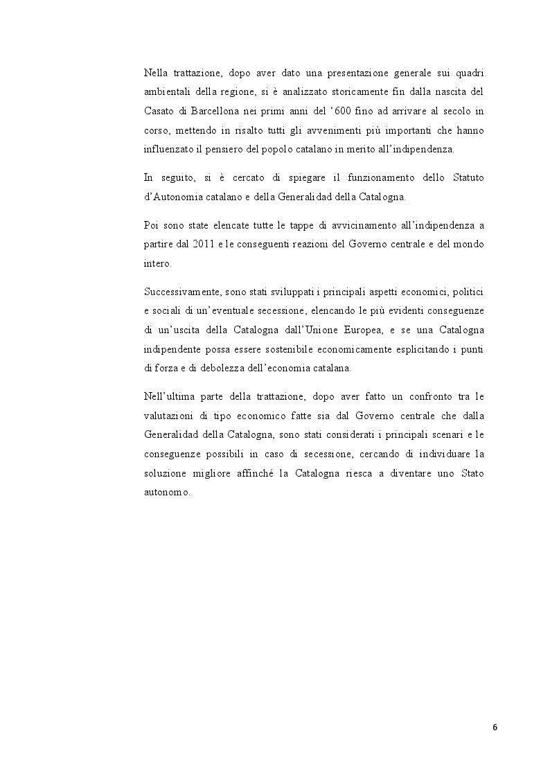 Anteprima della tesi: Catalogna: indipendenza possibile o sogno irrealizzabile?, Pagina 3
