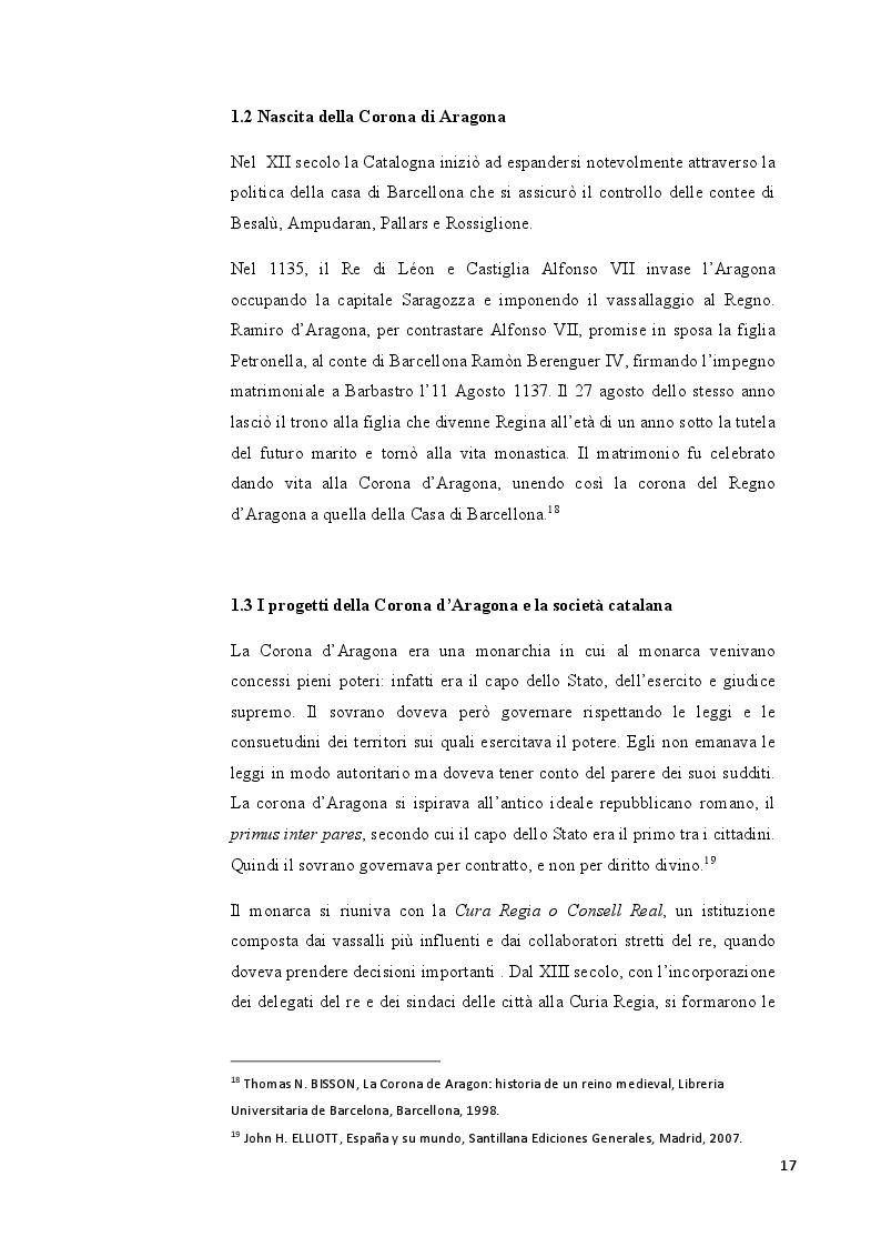Anteprima della tesi: Catalogna: indipendenza possibile o sogno irrealizzabile?, Pagina 6