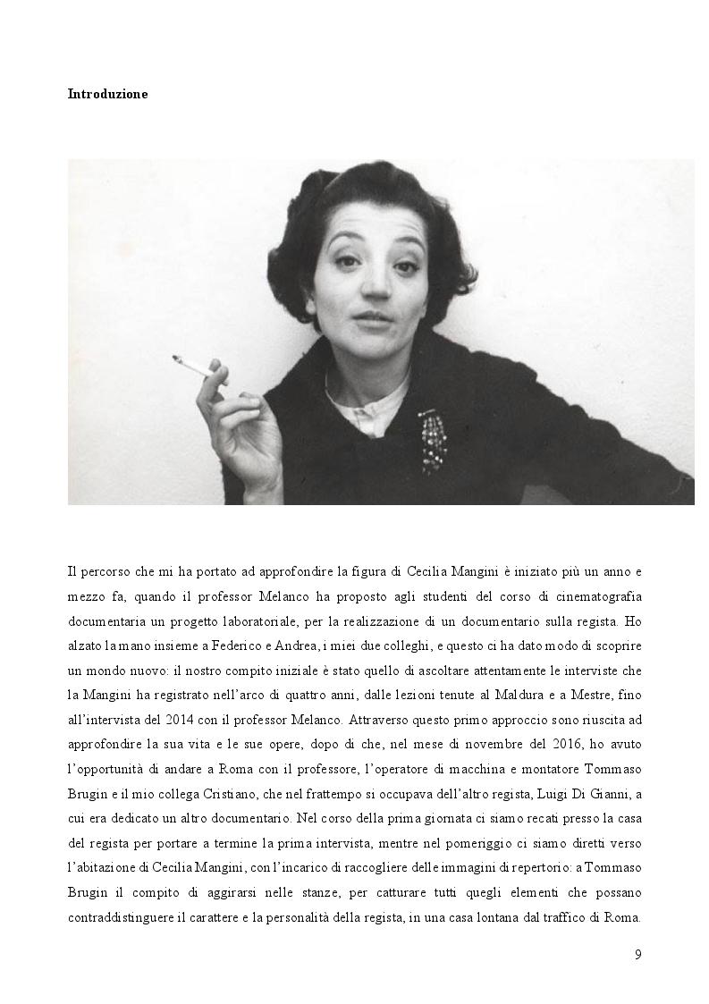Anteprima della tesi: L'immanenza dell'immagine nell'opera documentaria della regista Cecilia Mangini, Pagina 3