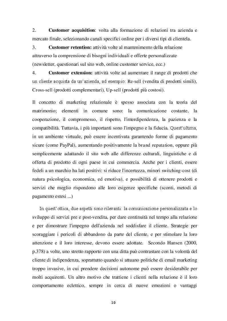 Estratto dalla tesi: E-LOYALTY - La fedeltà del cliente nelle attività di web marketing e la personalizzazione come FCDS. Case Study: Aziende cosmetiche made in Italy