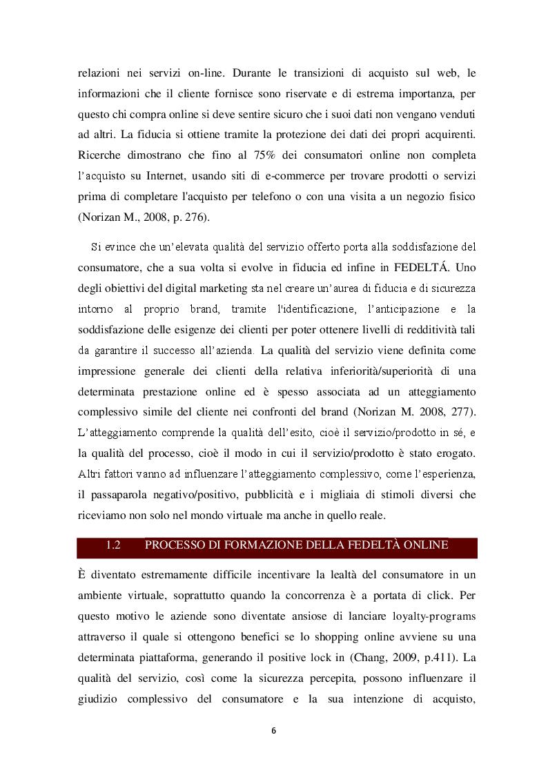 Anteprima della tesi: E-LOYALTY - La fedeltà del cliente nelle attività di web marketing e la personalizzazione come FCDS. Case Study: Aziende cosmetiche made in Italy, Pagina 5