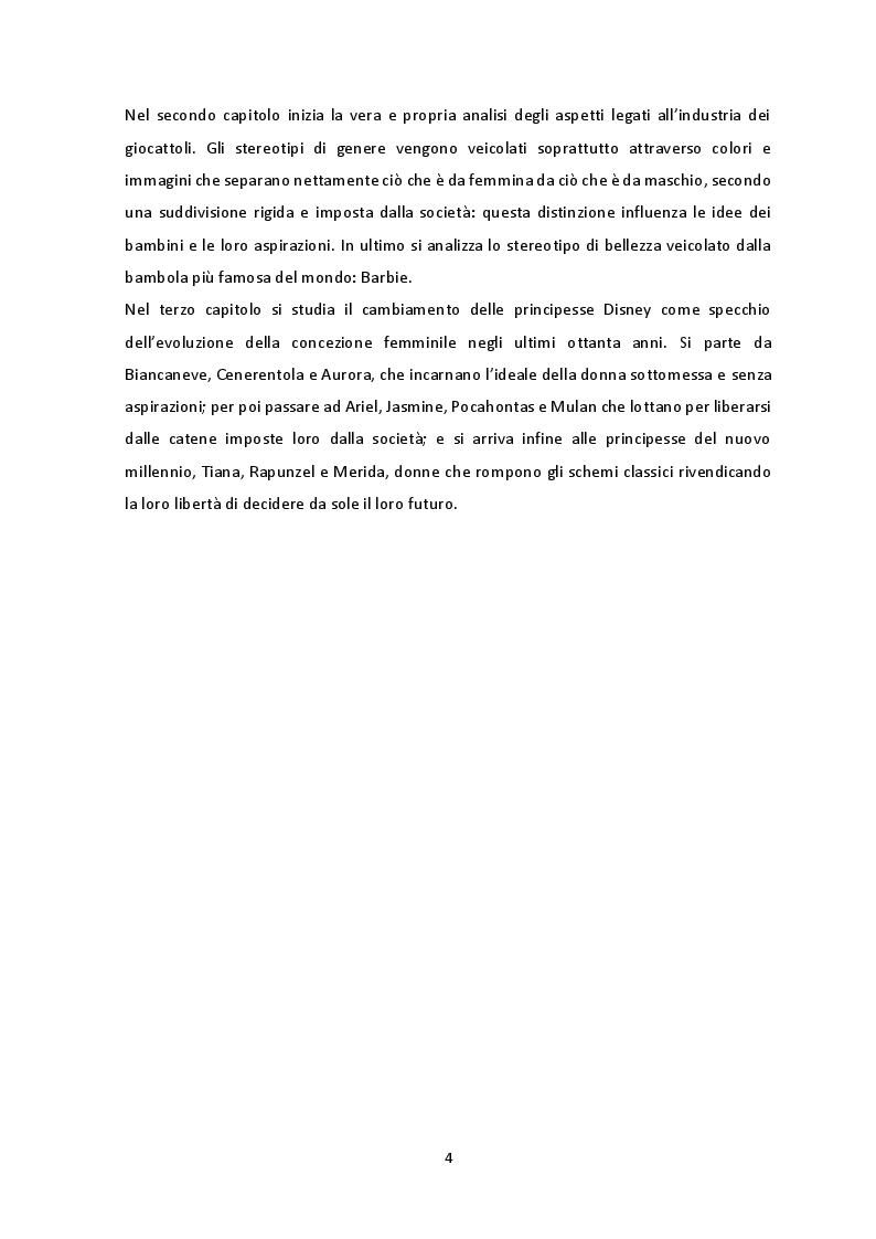 Anteprima della tesi: Gli stereotipi di genere nel mondo delle bambine, Pagina 3