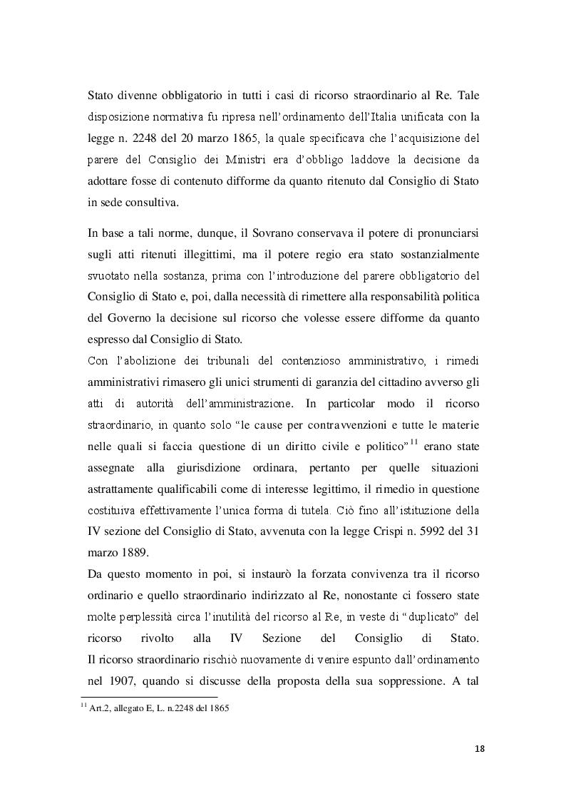 Estratto dalla tesi: La posizione del cointeressato e del controinteressato nel ricorso straordinario al Presidente della Repubblica
