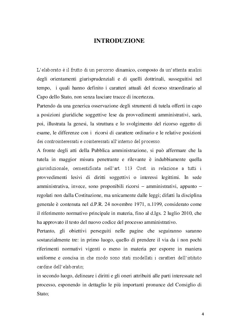 Anteprima della tesi: La posizione del cointeressato e del controinteressato nel ricorso straordinario al Presidente della Repubblica, Pagina 2