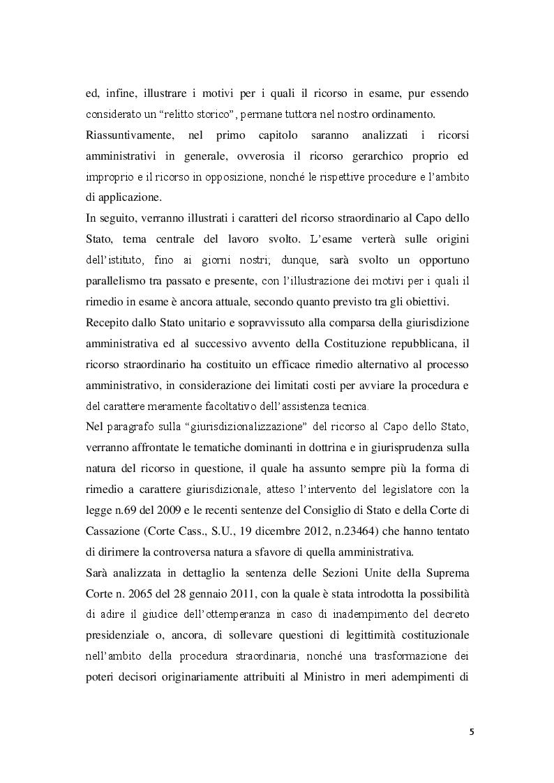 Anteprima della tesi: La posizione del cointeressato e del controinteressato nel ricorso straordinario al Presidente della Repubblica, Pagina 3