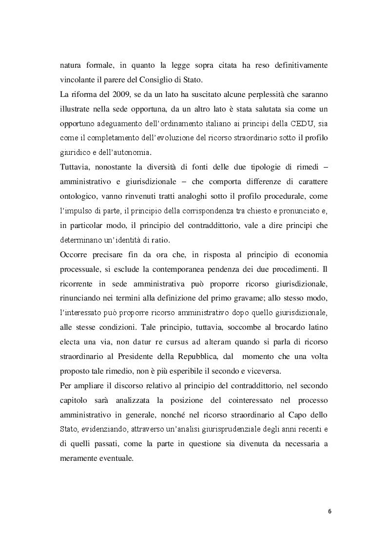 Anteprima della tesi: La posizione del cointeressato e del controinteressato nel ricorso straordinario al Presidente della Repubblica, Pagina 4