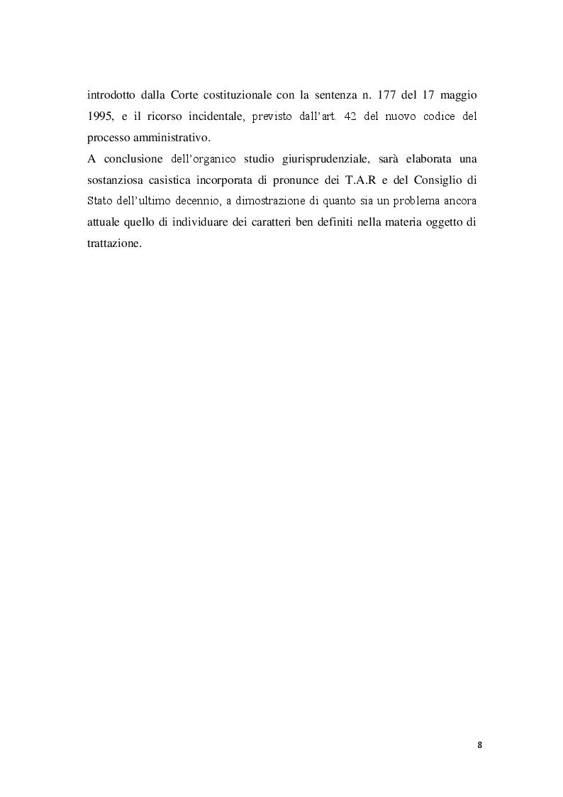 Anteprima della tesi: La posizione del cointeressato e del controinteressato nel ricorso straordinario al Presidente della Repubblica, Pagina 6