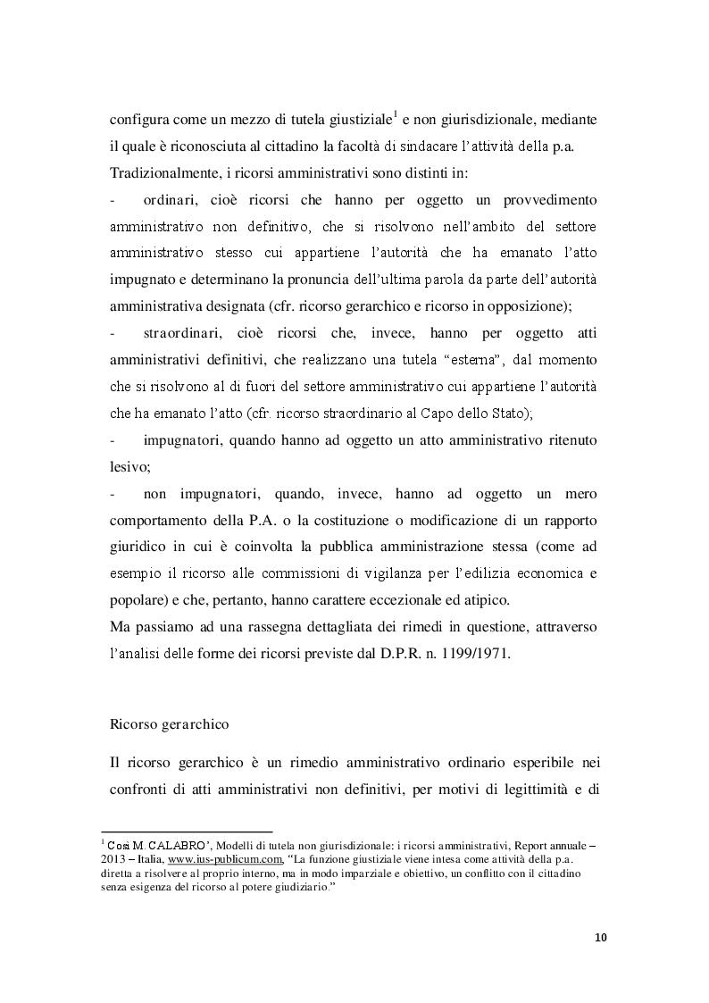 Anteprima della tesi: La posizione del cointeressato e del controinteressato nel ricorso straordinario al Presidente della Repubblica, Pagina 8