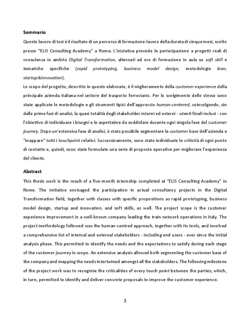 Anteprima della tesi: Progetto di miglioramento della customer experience, tramite approccio human-centered design: un'applicazione nel settore ferroviario., Pagina 2