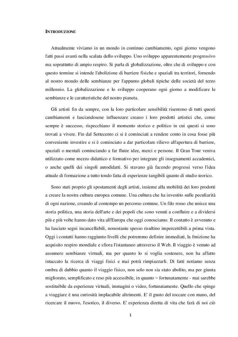Anteprima della tesi: Le residenze artistiche come strumento didattico e divulgativo: il caso Itinera, Pagina 2
