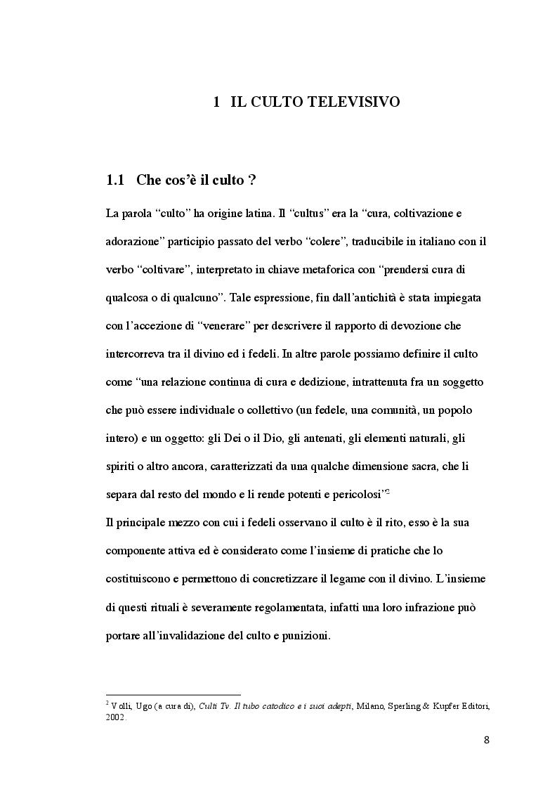 Anteprima della tesi: Il culto televisivo e il fenomeno del fandom. Il caso di The Big Bang Theory., Pagina 5