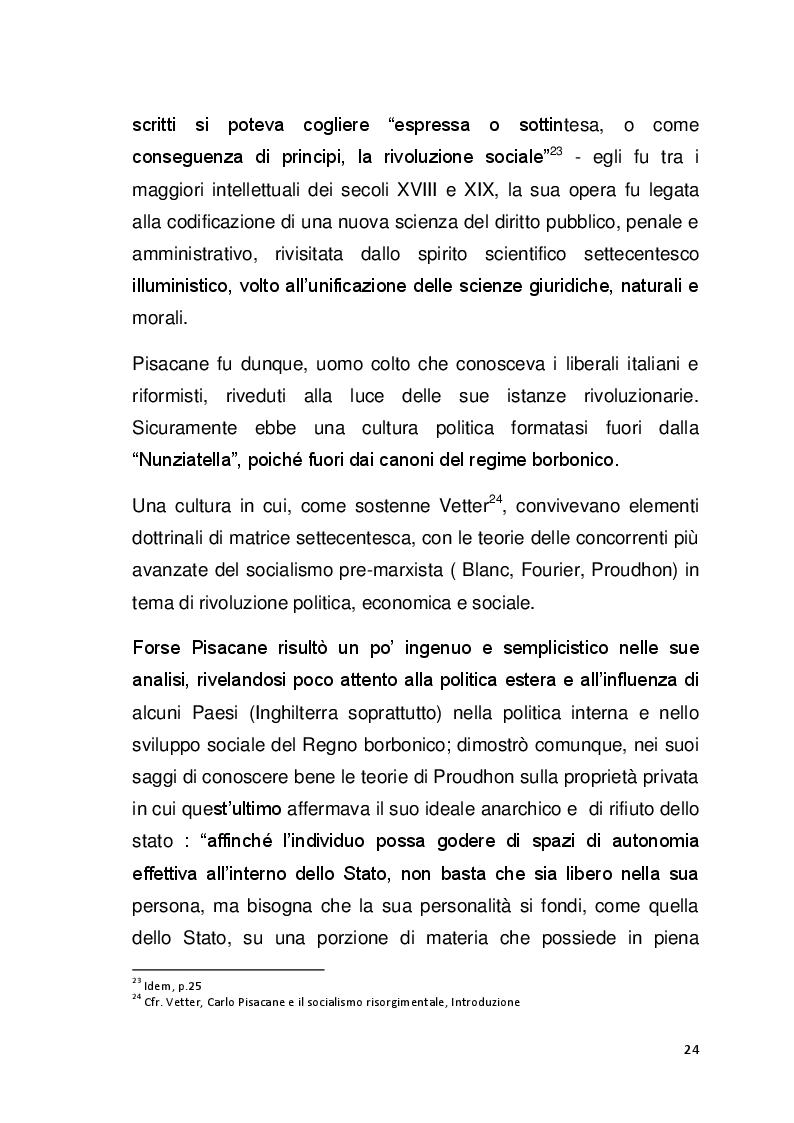Anteprima della tesi: Il pensiero politico di Carlo Pisacane, Pagina 5