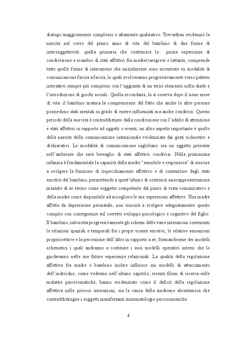 Anteprima della tesi: Depressione post partum materna e paterna : esiti sullo sviluppo emotivo-adattivo del bambino., Pagina 3