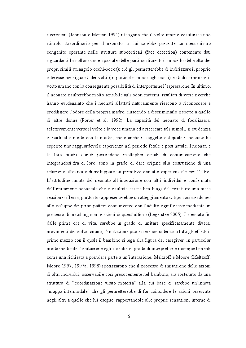 Anteprima della tesi: Depressione post partum materna e paterna : esiti sullo sviluppo emotivo-adattivo del bambino., Pagina 5