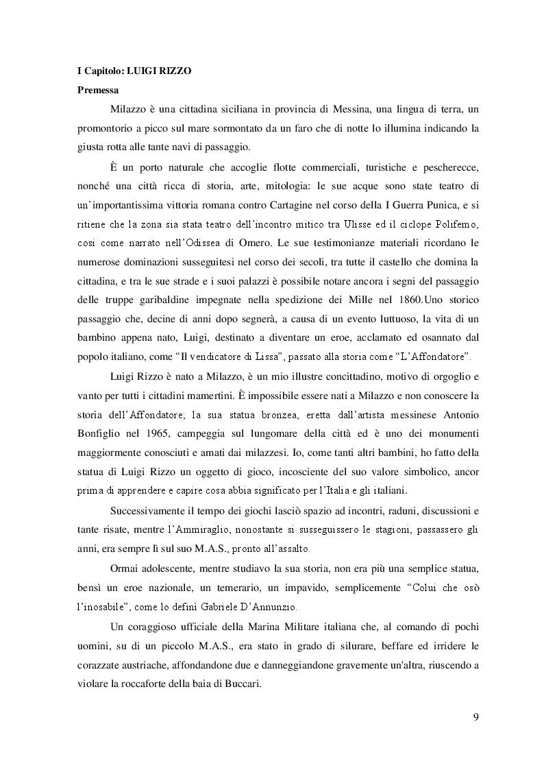 """Anteprima della tesi: """"La Grande Guerra: la vita e le imprese dell'Ammiraglio Luigi Rizzo'', Pagina 4"""