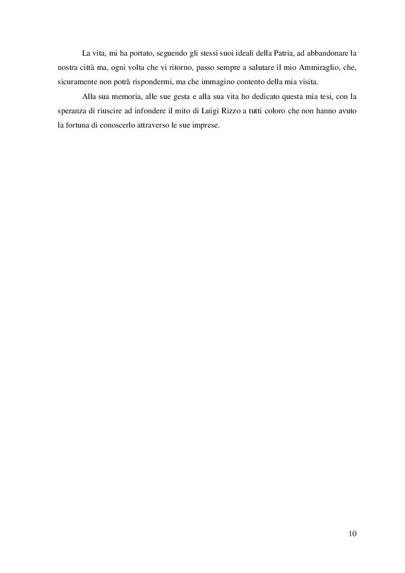 """Anteprima della tesi: """"La Grande Guerra: la vita e le imprese dell'Ammiraglio Luigi Rizzo'', Pagina 5"""